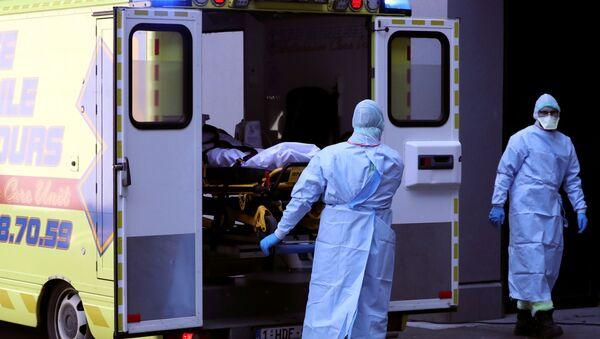 Una ambulancia de Lieja  - Sputnik Mundo