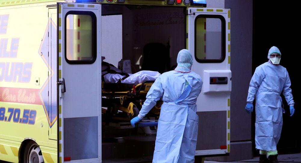 Una ambulancia de Lieja