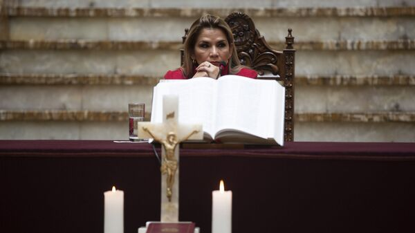 Jeanine Áñez, la expresidenta transitoria de Bolivia  - Sputnik Mundo