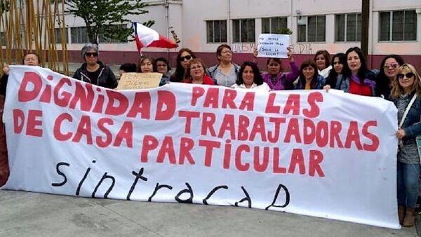 Manifestación por trabajadora domésticas en Chile - Sputnik Mundo
