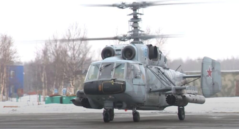 Un Ka-29 de la Armada de Rusia