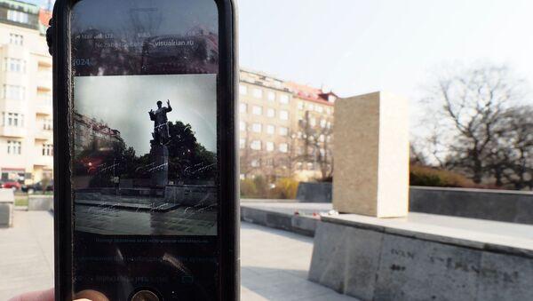 El lugar del monumento demolido del mariscal soviético Iván Kónev en Praga - Sputnik Mundo
