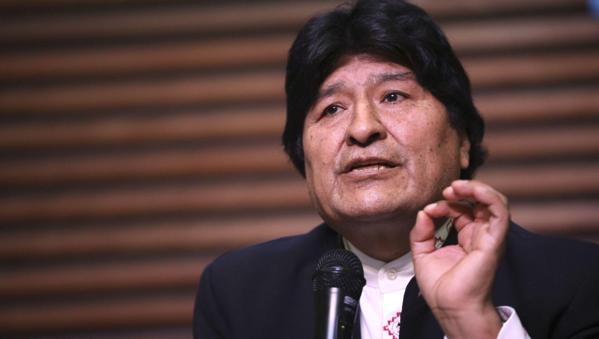 Evo Morales, expresidente boliviano - Sputnik Mundo, 1920, 27.12.2020