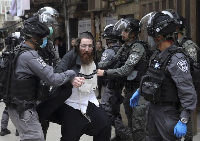 La detención de un judío ultraortodoxo en Jerusalén