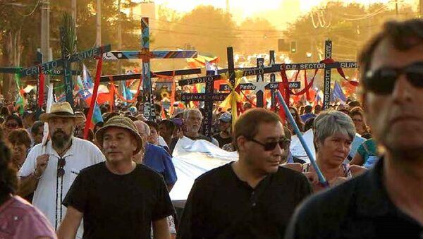 Romería en funeral de Mariano Puga - Sputnik Mundo