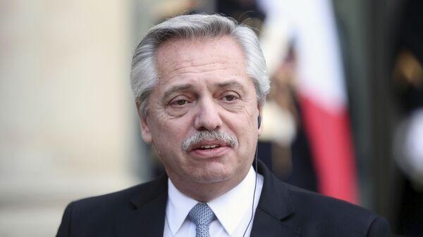 Alberto Fernández, el presidente de Argentina - Sputnik Mundo