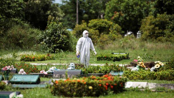 Un cementerio en Brasil - Sputnik Mundo