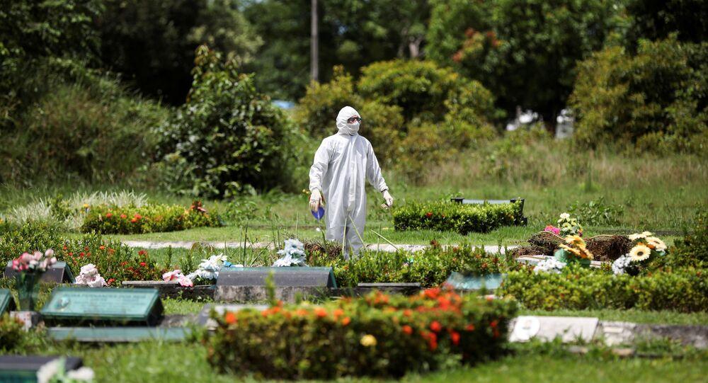 Un cementerio en Brasil
