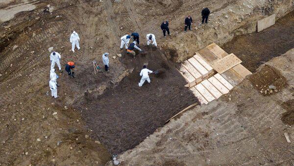 Excavación de fosas comunes en la isla de Hart, Nueva York - Sputnik Mundo