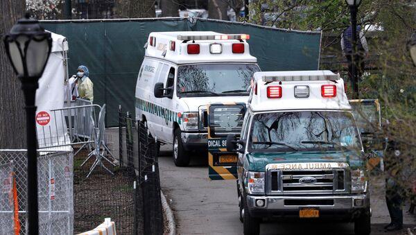 Ambulancias en Nueva York, EEUU - Sputnik Mundo