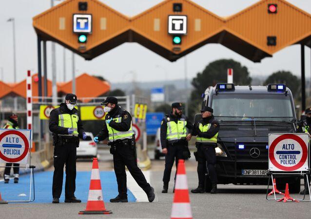 Controles en la frontera de España y Francia