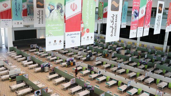 Un centro comercial que fue convertido en un hospital para pacientes con coronavirus en Irán - Sputnik Mundo