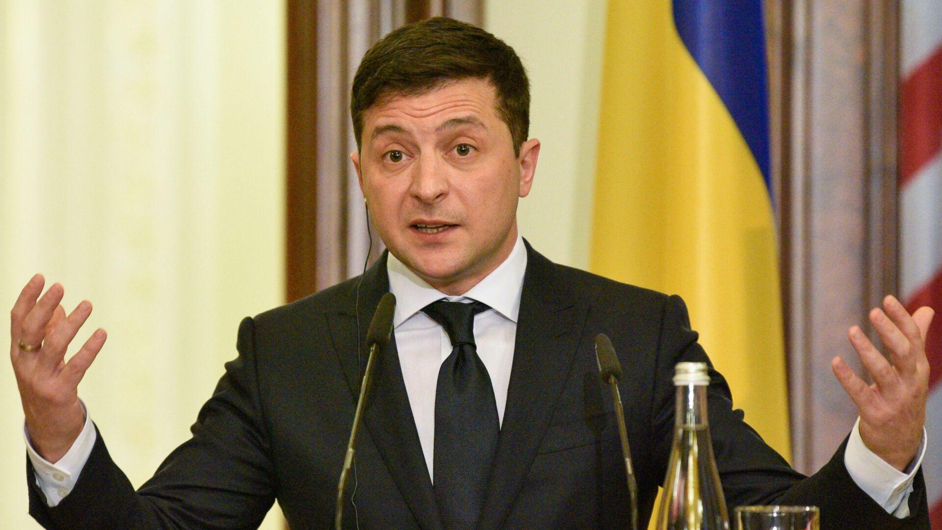 Volodímir Zelenski, presidente de Ucrania - Sputnik Mundo, 1920, 24.06.2021