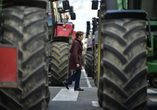 Tractores en Pamplona (imagen referencial)