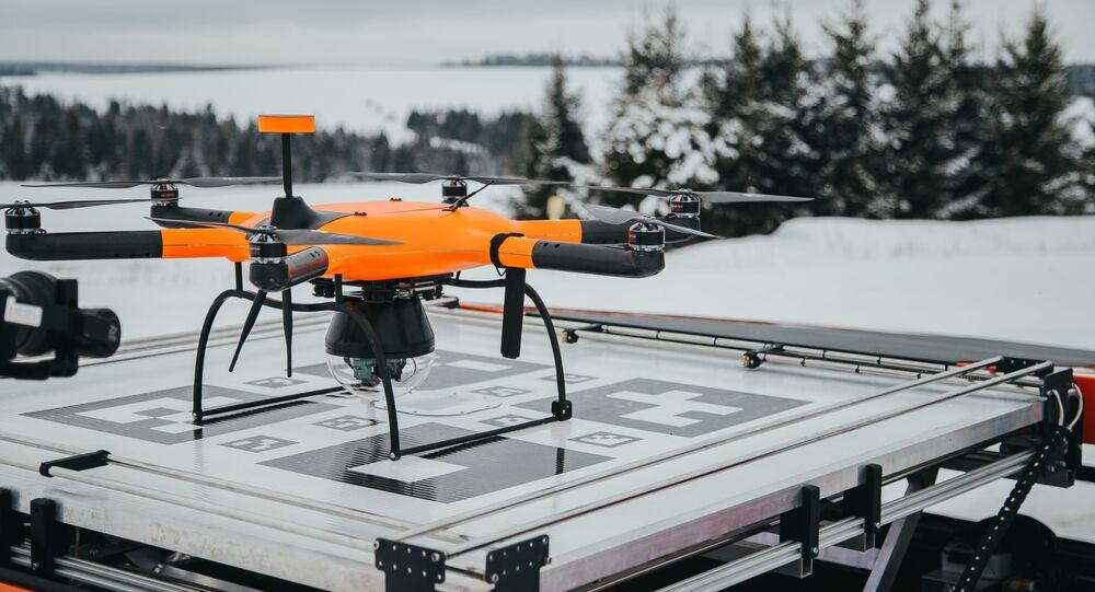 Un dron Supercam