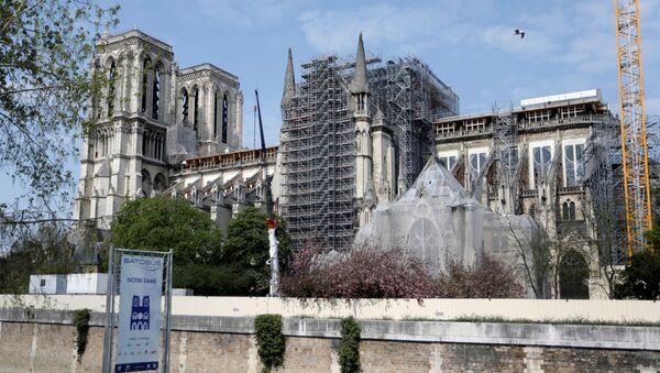 Restauración de la catedral Notre Dame de París en Francia tras el indendio - Sputnik Mundo