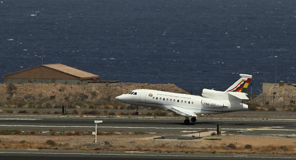 El avión presidencial de Bolivia