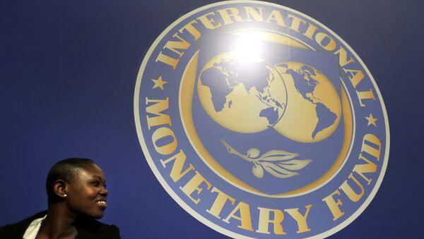 El logo del Fondo Monetario Internacional (FMI) - Sputnik Mundo