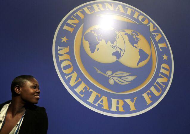 El logo del Fondo Monetario Internacional (FMI)