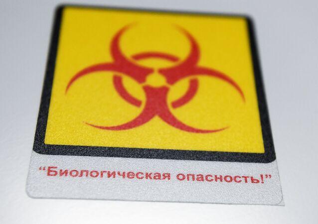 Una señal del peligro biológico