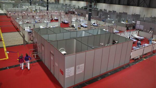 Panóramica de Ifema, hospital de campaña de Madrid. - Sputnik Mundo
