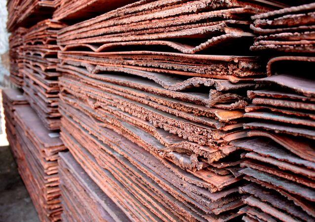 Láminas de cobre