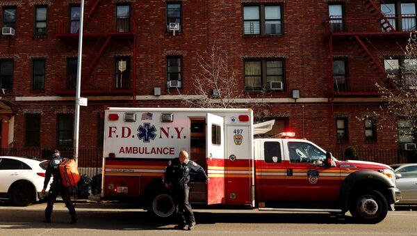 Ambulancia en Nueva York, EEUU - Sputnik Mundo