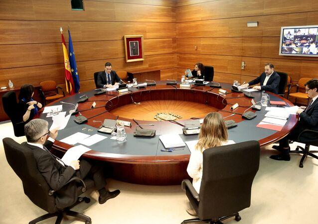 El Gobierno español se reúne en el Palacio de la Moncloa
