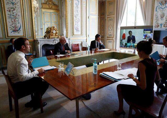 La videoconferencia con los miembros del G20
