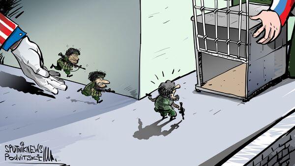 Un grupo de terroristas entrenados por EEUU se rinde al Ejército sirio  - Sputnik Mundo