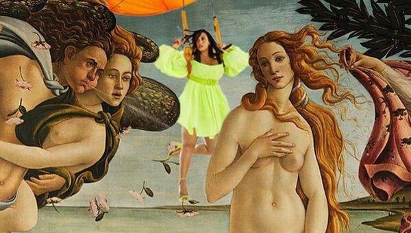 Demi Lovato junto a Venus en la obra maestra de Sandro Botticelli - Sputnik Mundo