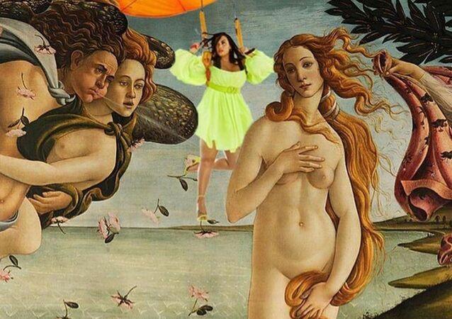 Demi Lovato junto a Venus en la obra maestra de Sandro Botticelli