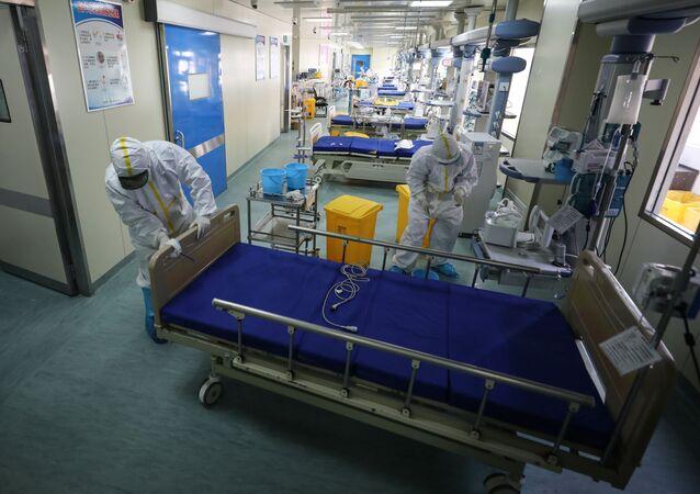 Hospital en Wuhan, China (archivo)