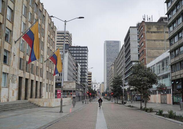 Las calles vacías de Bogotá durante la cuarentena por el coronavirus