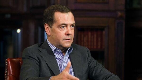 Dmitri Medvédev, el vicepresidente del Consejo de Seguridad, durante la entrevista a Sputnik - Sputnik Mundo
