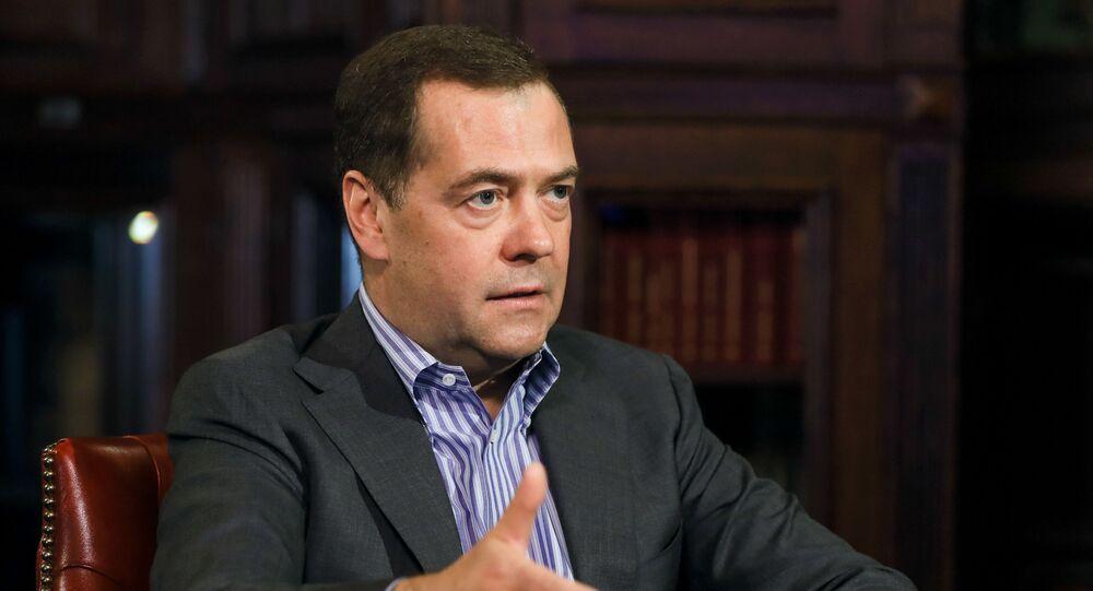 Dmitri Medvédev, el vicepresidente del Consejo de Seguridad, durante la entrevista a Sputnik