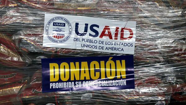 La ayuda humanitaria de EEUU a Venezuela - Sputnik Mundo
