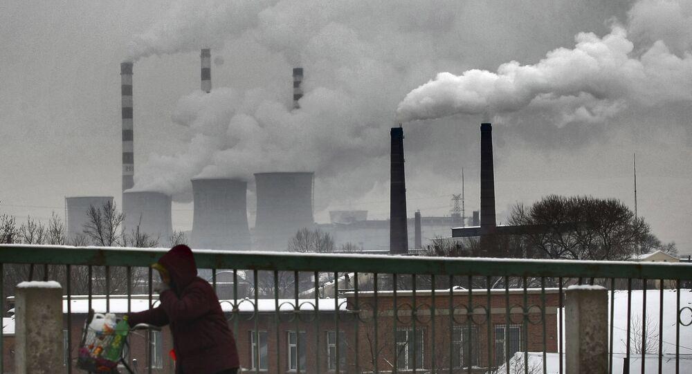 Una planta de energía en China
