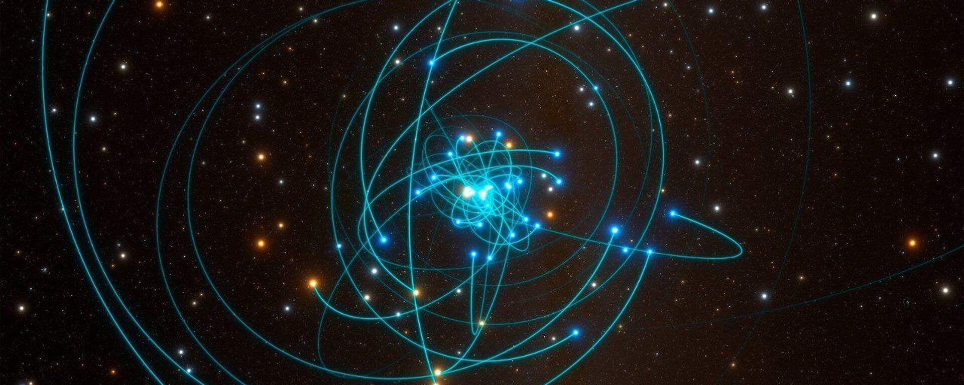 Órbitas de las estrellas alrededor del agujero negro del centro de la Vía Láctea - Sputnik Mundo, 1920, 17.04.2020