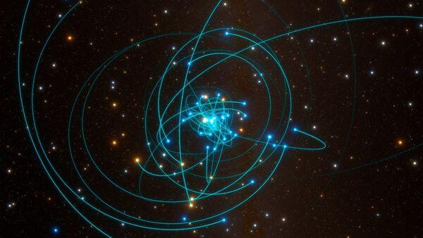 Órbitas de las estrellas alrededor del agujero negro del centro de la Vía Láctea - Sputnik Mundo