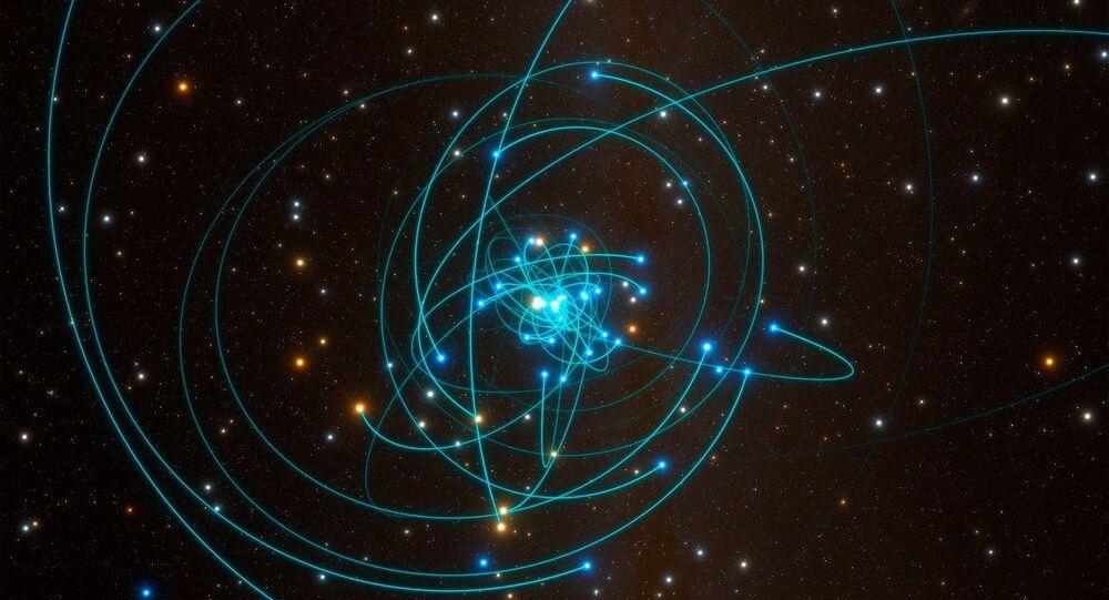 Órbitas de las estrellas alrededor del agujero negro del centro de la Vía Láctea
