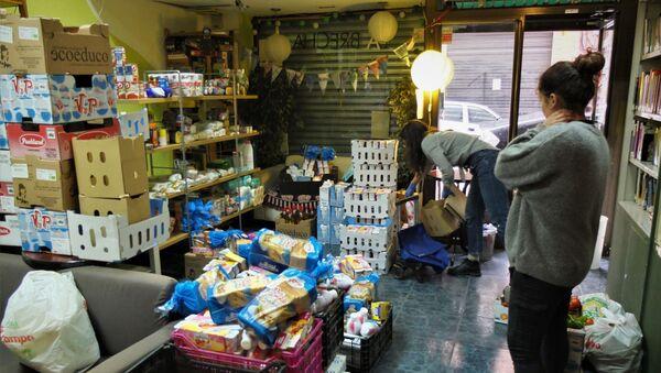 Banco de alimentos de La Brecha, en Madrid. - Sputnik Mundo