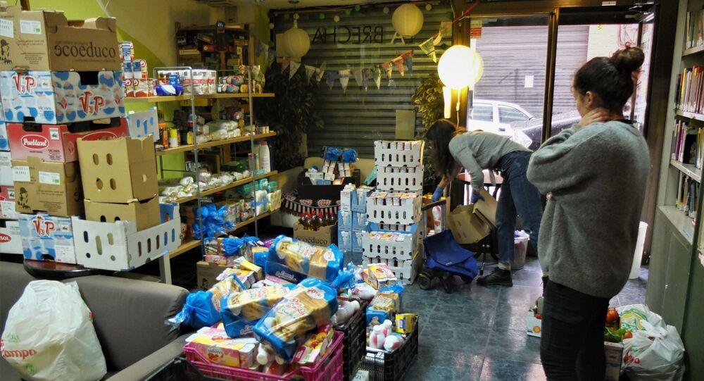 Banco de alimentos de La Brecha, en Madrid