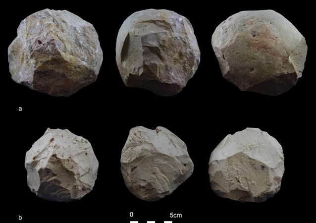 Réplicas experimentales de las bolas de piedra
