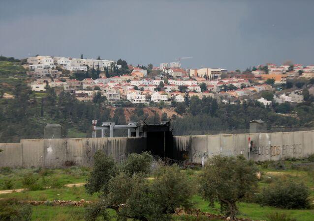 Vista general a los territorios ocupados de Cisjordania