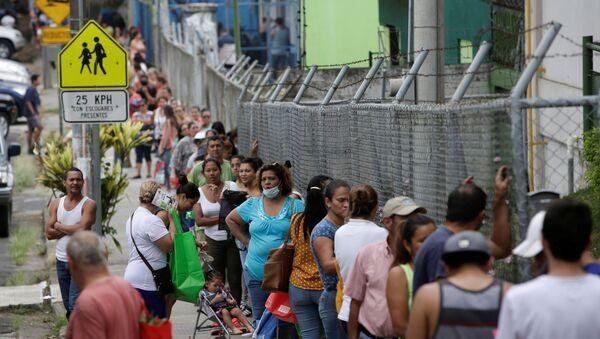 La gente haciendo cola en Costa Rica - Sputnik Mundo