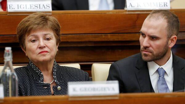Directora del FMI, Kristalina Georgieva, y ministro de Economía argentino, Martín Guzmán - Sputnik Mundo