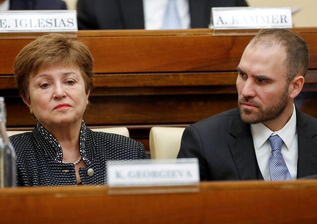 Directora del FMI, Kristalina Georgieva, y ministro de Economía argentino, Martín Guzmán