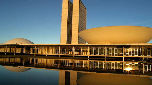 El congreso nacional, en Brasilia, la capital de Brasil - Sputnik Mundo
