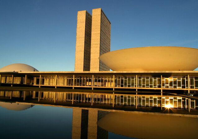 El congreso nacional, en Brasilia, la capital de Brasil